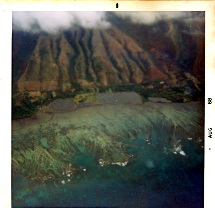 Flying over Molokai 1968