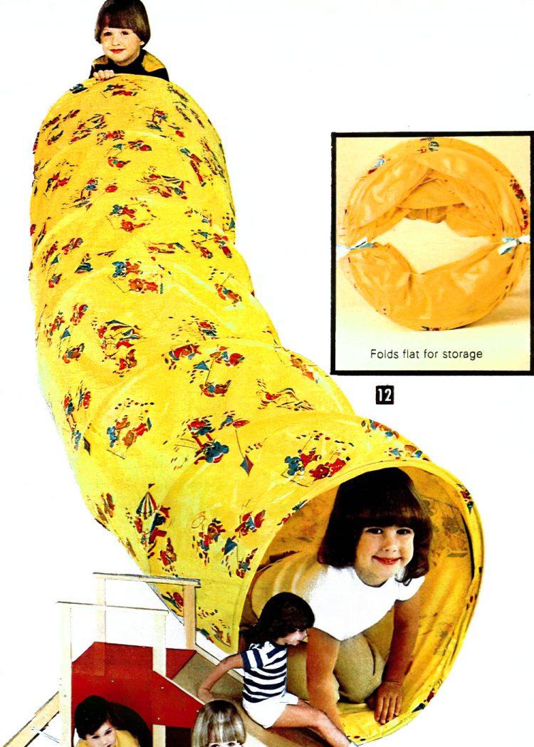 Fold-away vinyl play tunnel (1981)
