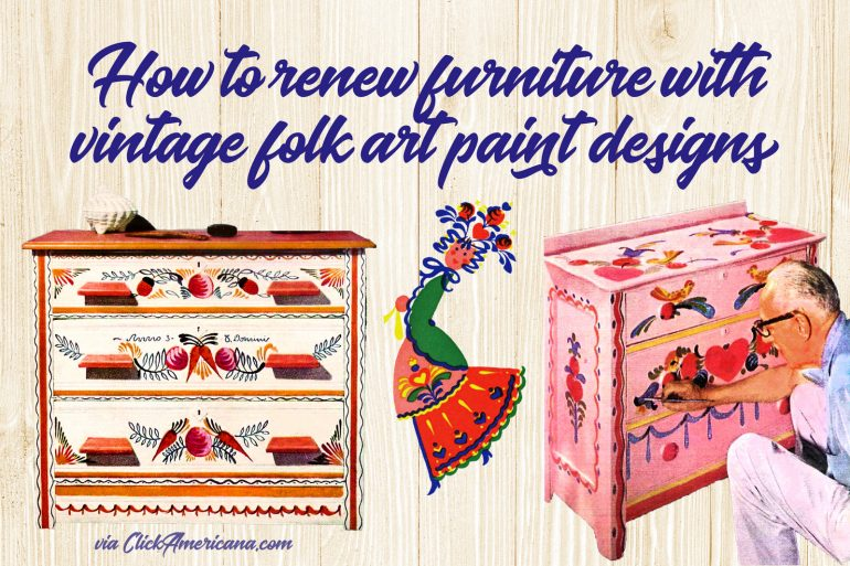 Folk-art painted furniture How to renew old furniture DIY
