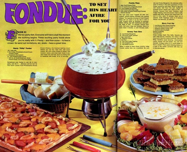 Fun with fondue and other recipes for a really 'with it' dinner party! (1968)