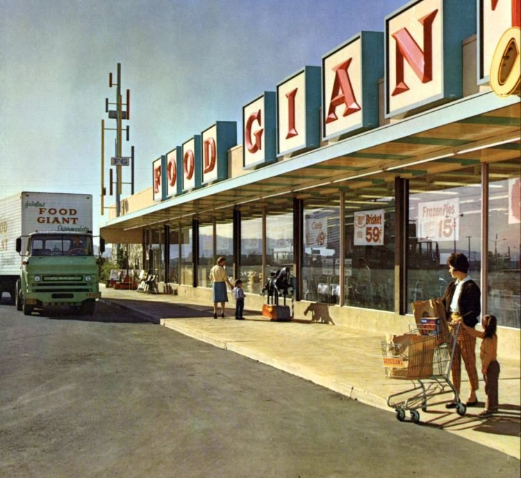 Food Giant old grocery store - 1961