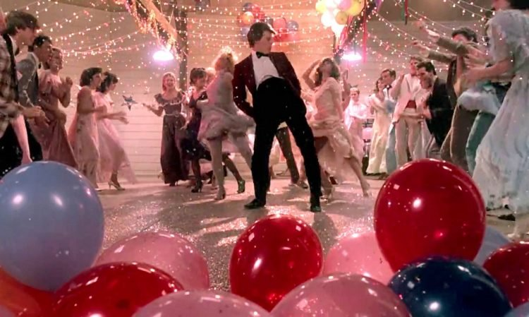 Footloose final dance scene with balloons