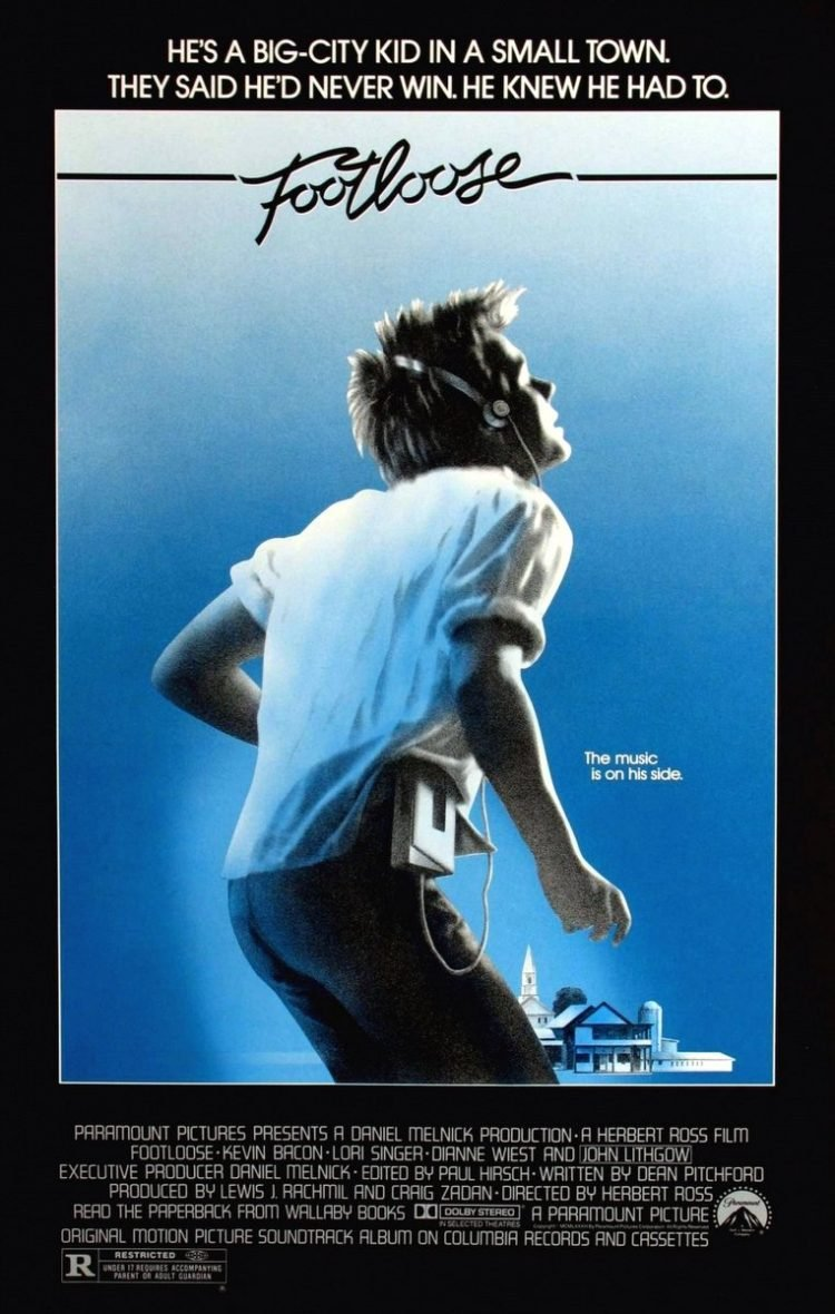 Footloose original movie poster with Kevin Bacon