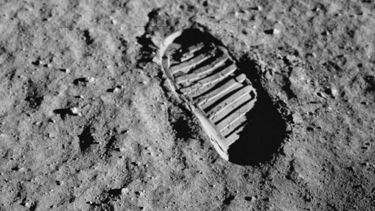 Footprints left by the astronauts on the moon are still visible today
