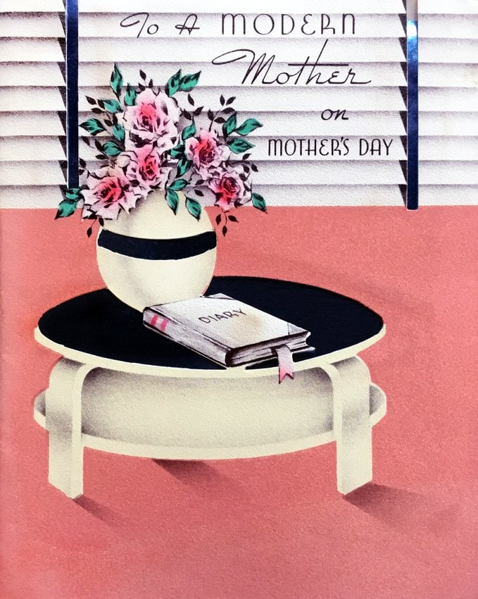 For a modern mother on Mother's Day - vintage card from the 1950s 1960s