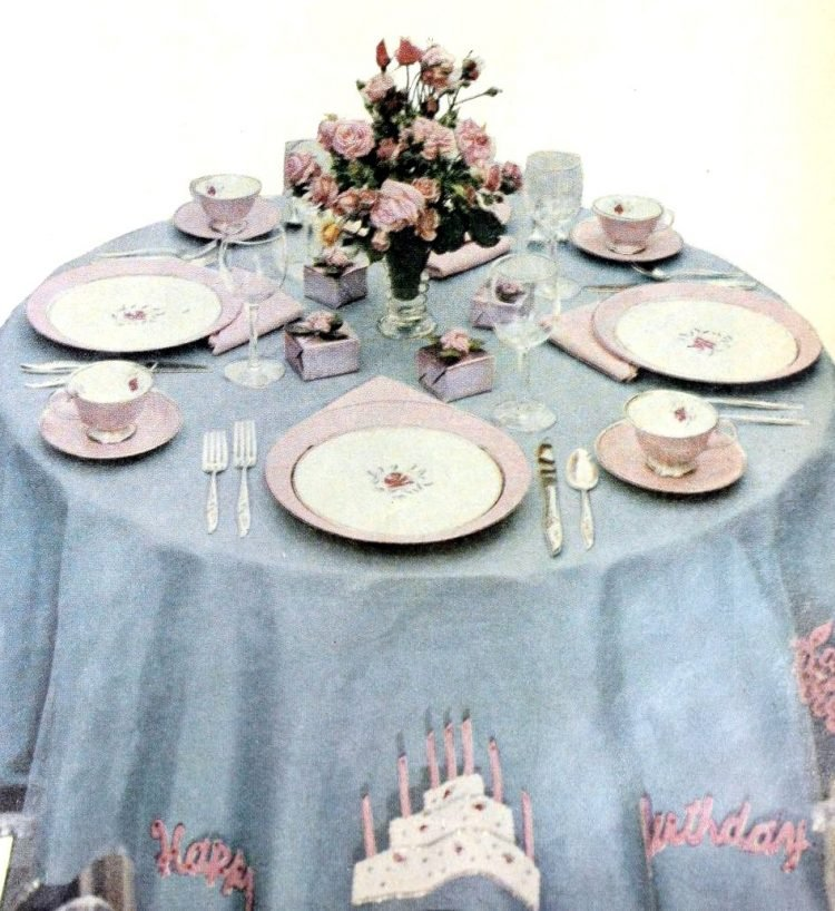 For a pretty birthday tabletop