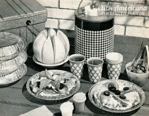 For a tote-lunch Texas open-faced sandwiches 1961