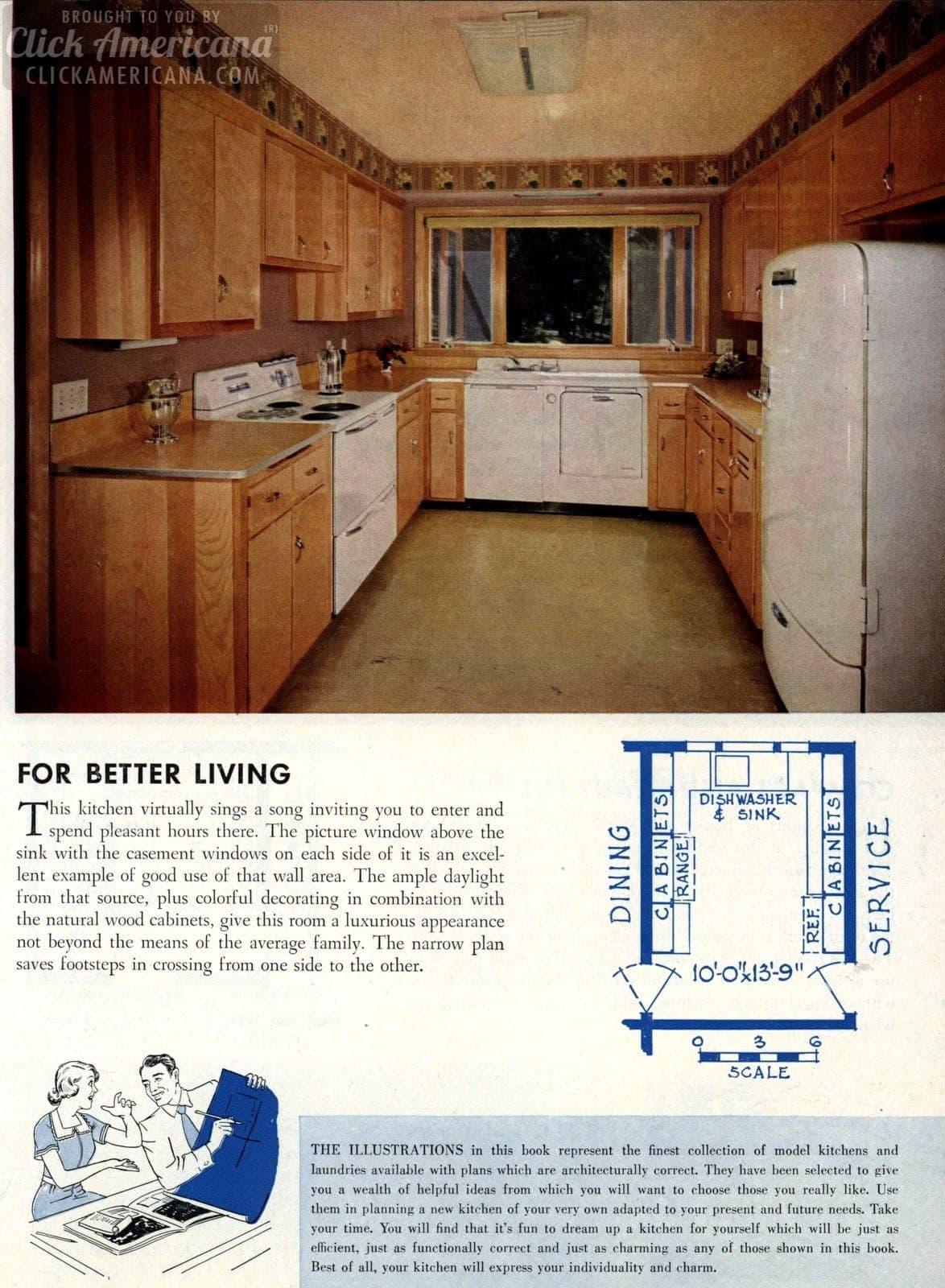 For better living Remodeled kitchen design 1954