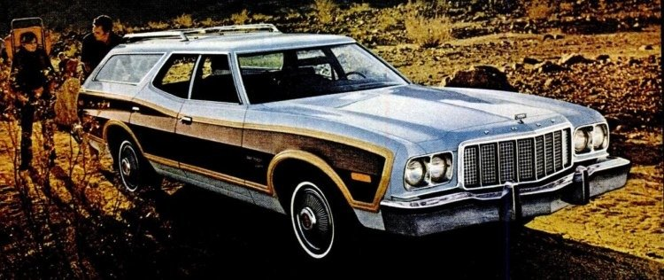 Ford Gran Torino Squire station wagons (1973-1974) - Click ...