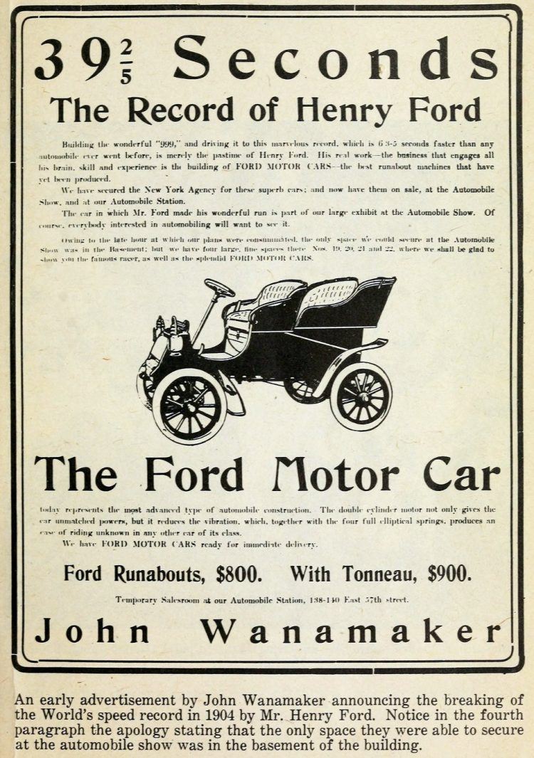 Ford Motor Car - The record of Henry Ford