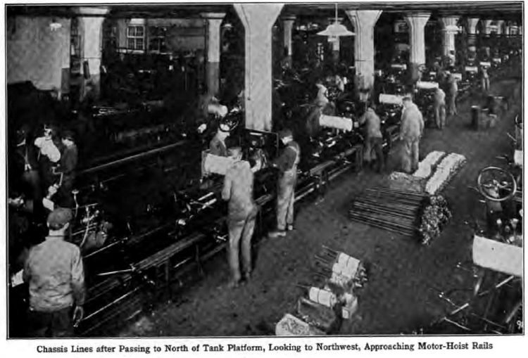 Ford assembly line production of Model T automobiles - 1915 (3)