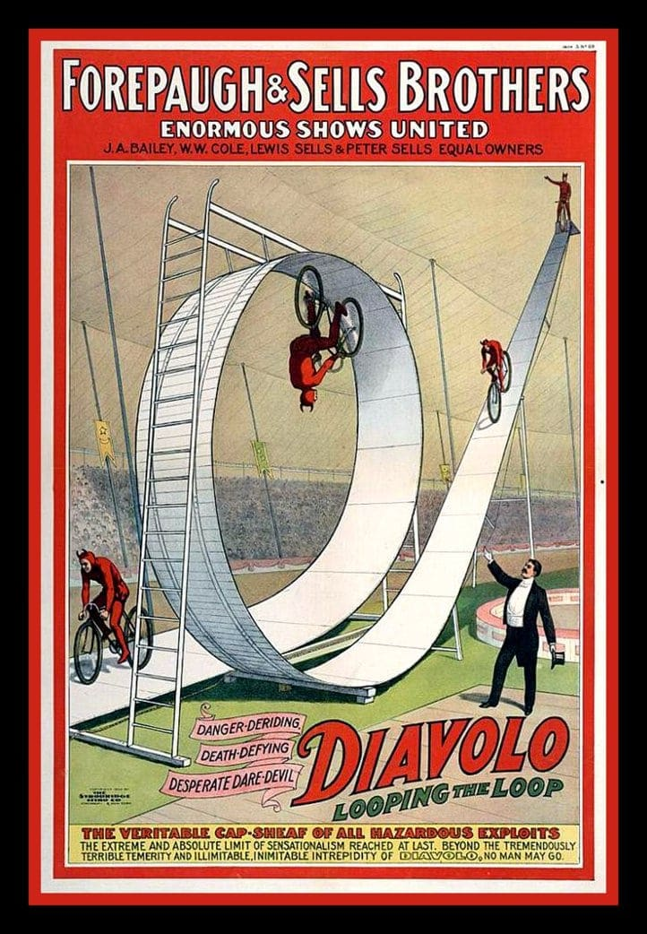 Forepaugh and Sells Brothers - Diavolo looping the loop