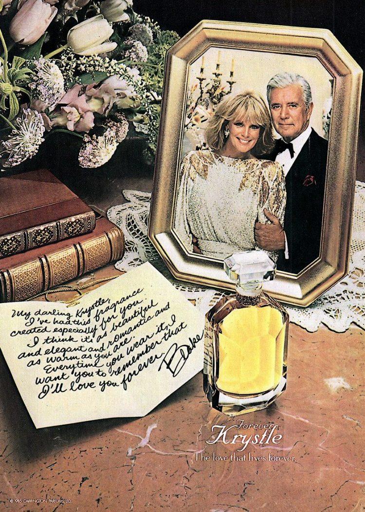 Forever Krystle perfume vintage ad 1986