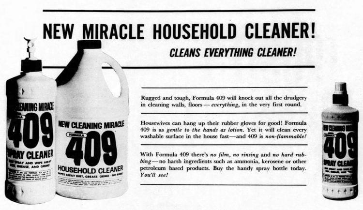 Formula 409 cleaner 1966