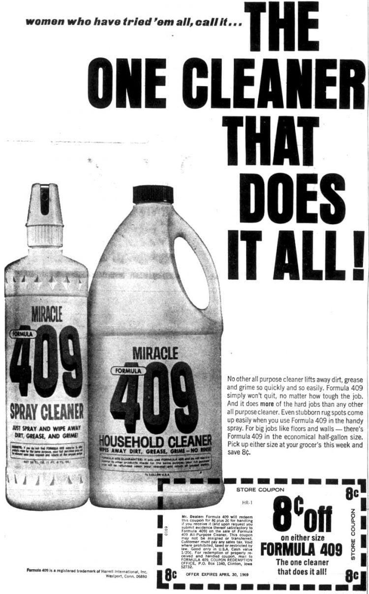 Formula 409 cleaner 1969