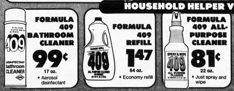 Formula 409 cleaner 1977