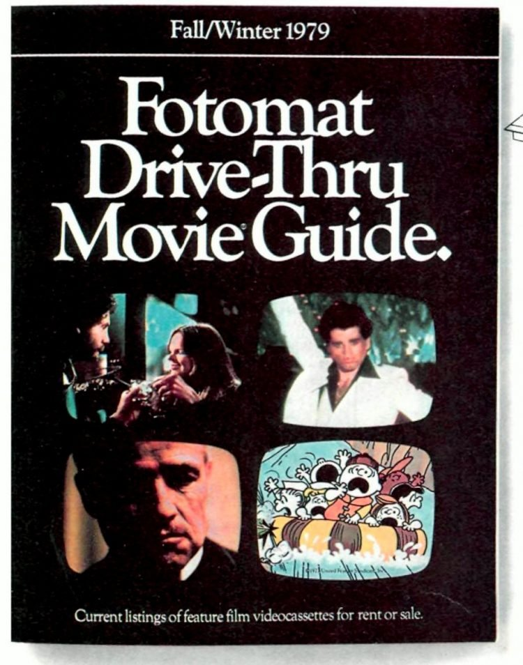 Fotomat Drive-Thru Movie Guide 1979