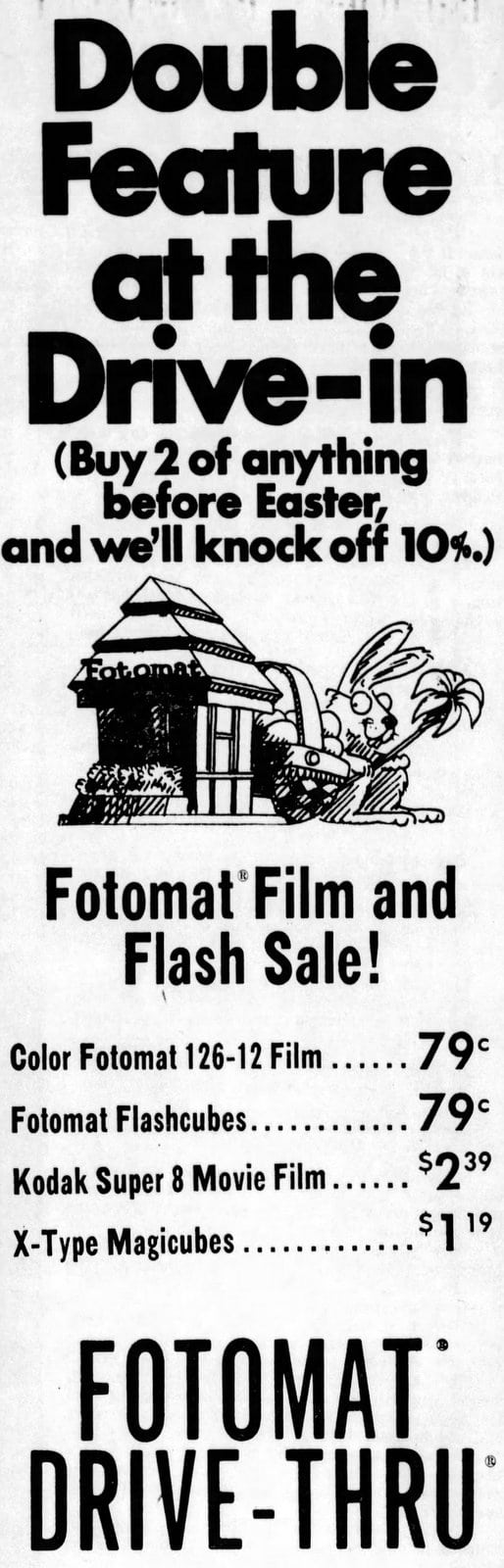 Fotomat film and flash sale