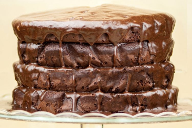 Four layer Bacardi chocolate cake