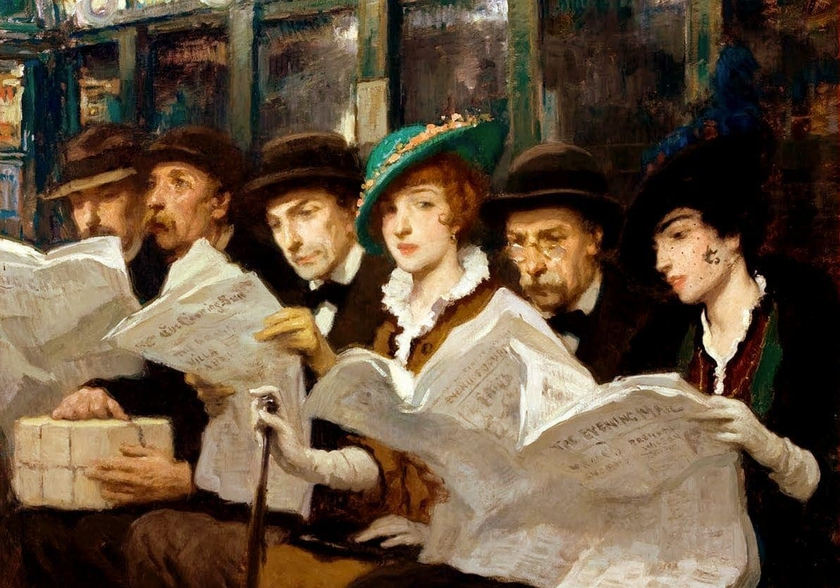 Francis Luis Mora - Subway Riders in NYC 1914-001