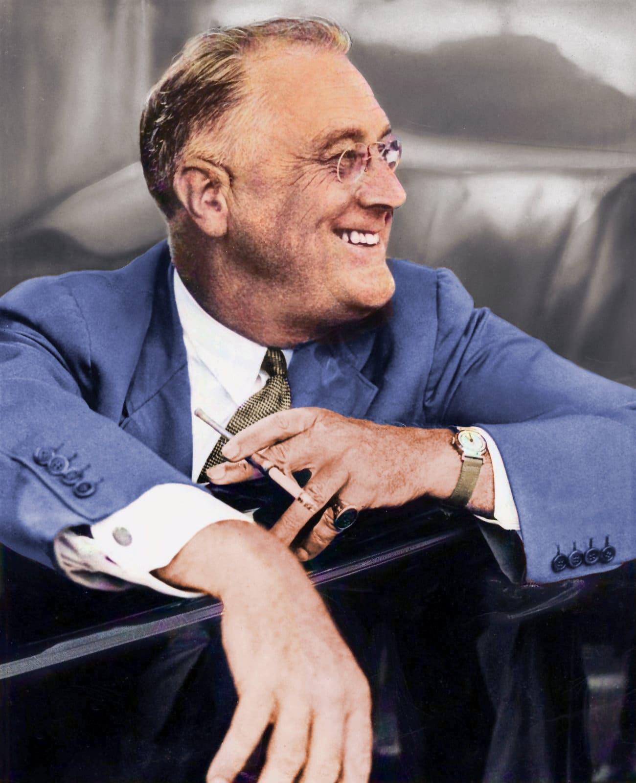 Franklin Delano Roosevelt (1937) Colorized
