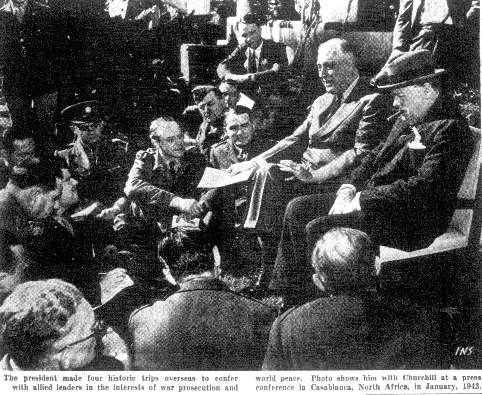 Franklin Roosevelt in Casablanca (1943)