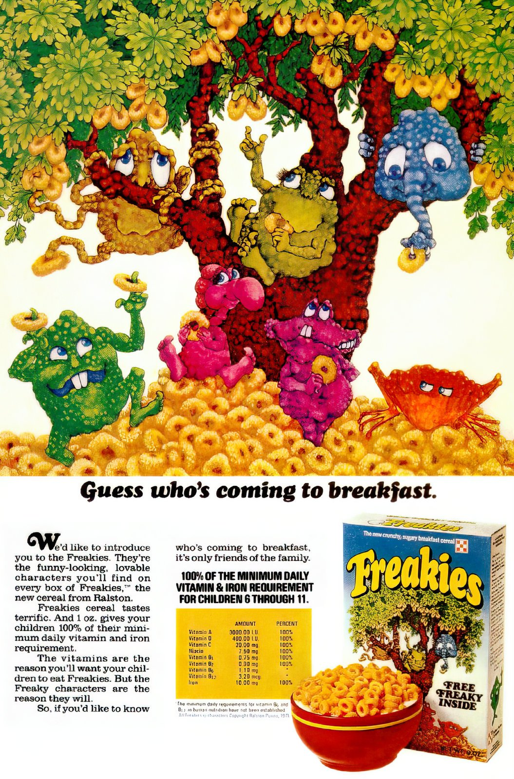 Freakies cereal ad (1972)