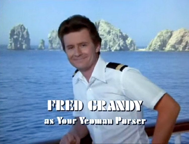 Fred Grandy as ship's purser Gopher