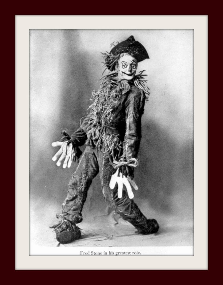 Fred Stone in vintage Wizard of Oz as the Scarecrow c1902