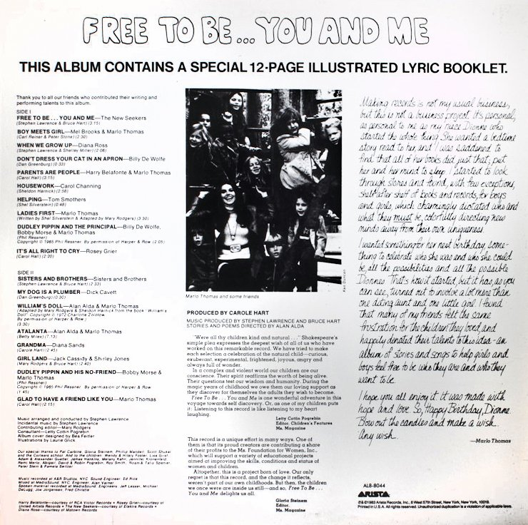Free To Be You And Me back cover