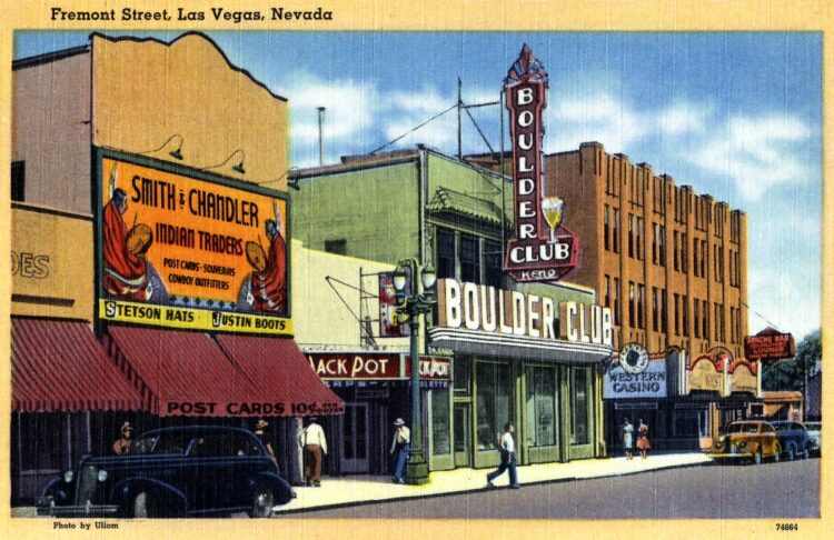 Fremont Street in old Las Vegas - 1940s