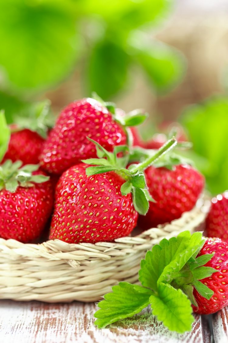 Fresh strawberries to use in a tutti-frutti recipe
