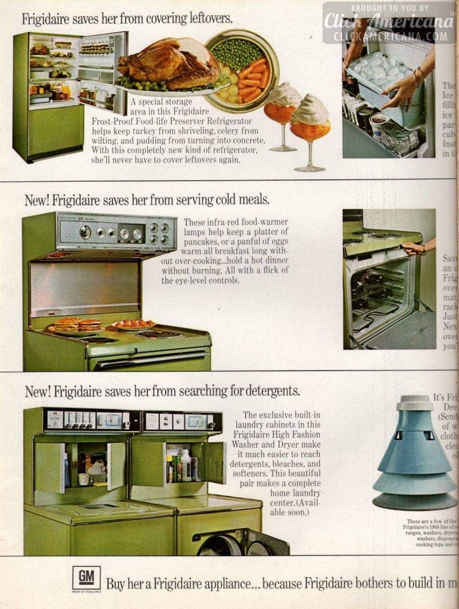 Frigidaire's 'wife savers' home appliances (1968)