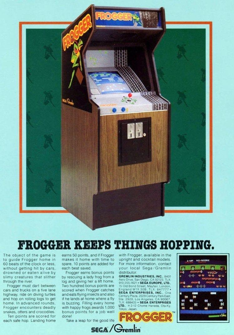 Frogger arcade game 1981