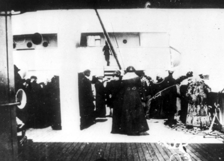 From 1912 - Real Titanic survivors on the rescue ship Carpathia (2)