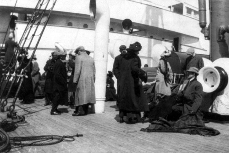 From 1912 - Real Titanic survivors on the rescue ship Carpathia (4)