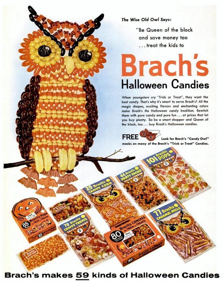 From 1960 Brach's vintage Halloween candy