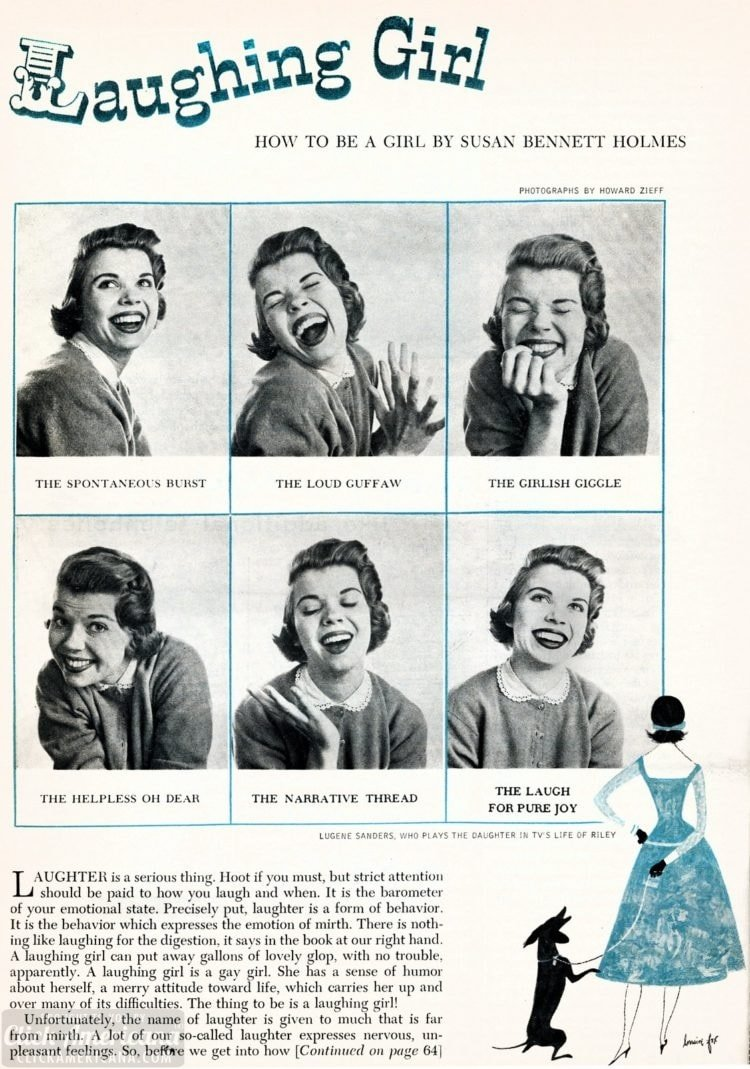 From the 50s How to laugh, just for girls