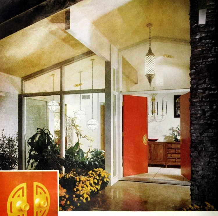 Front door - Vintage sixties house