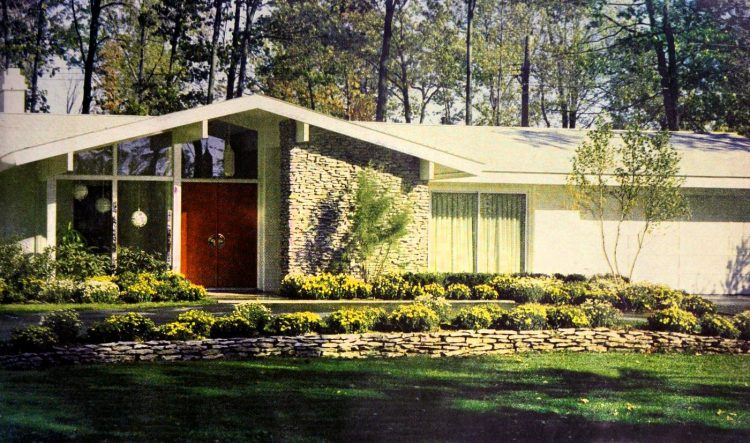 Front view - Vintage sixties Scholz Mark 60 house