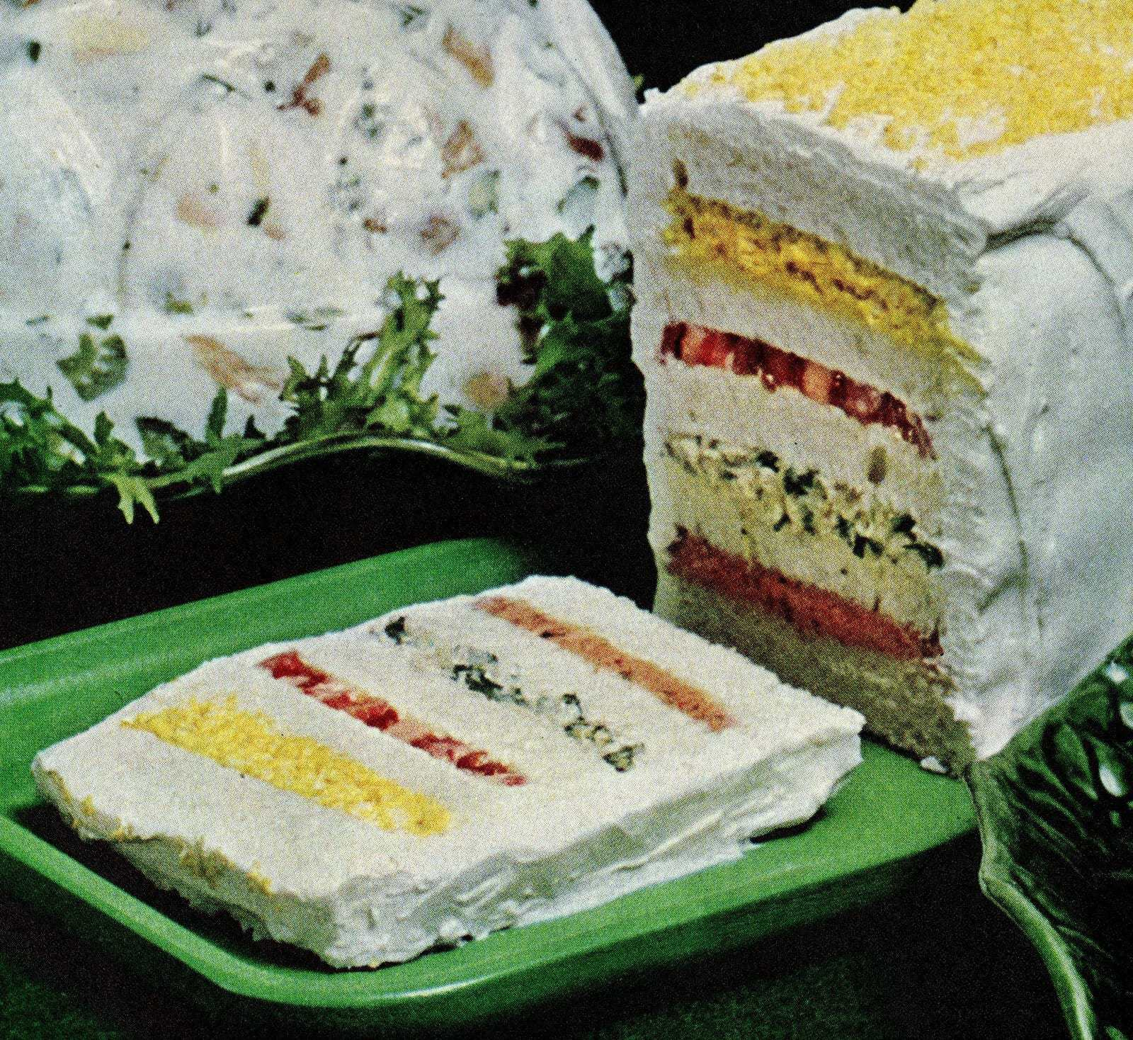 Frosted layered sandwich loaf recipe (1965)