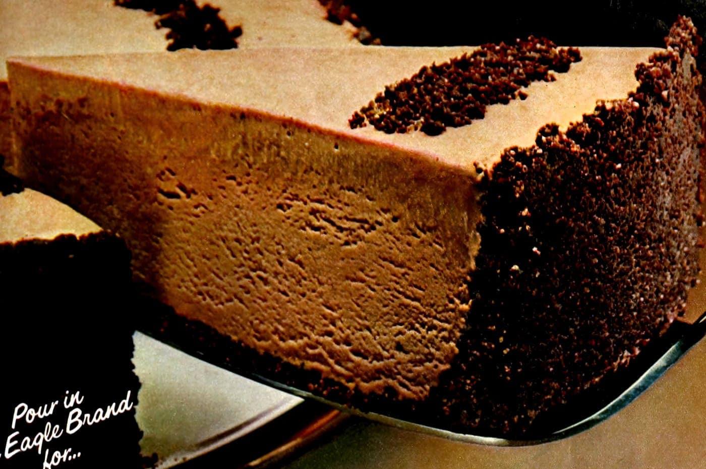Frozen mocha cheesecake vintage recipe from 1983 (1)