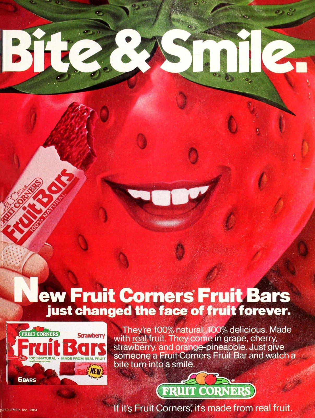 Fruit Corners strawberry Fruit Bars (1985)