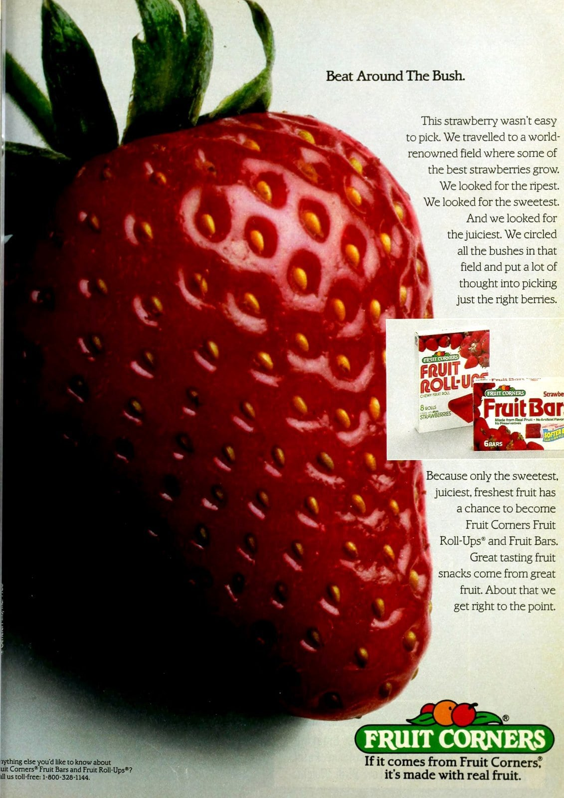 Fruit Roll-Ups and Fruit Bars - strawberry (1986)
