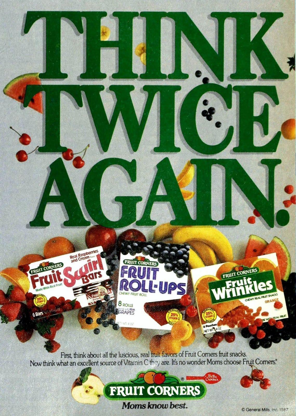Fruit Swirl bars and more 1980s fruit snacks (1987)