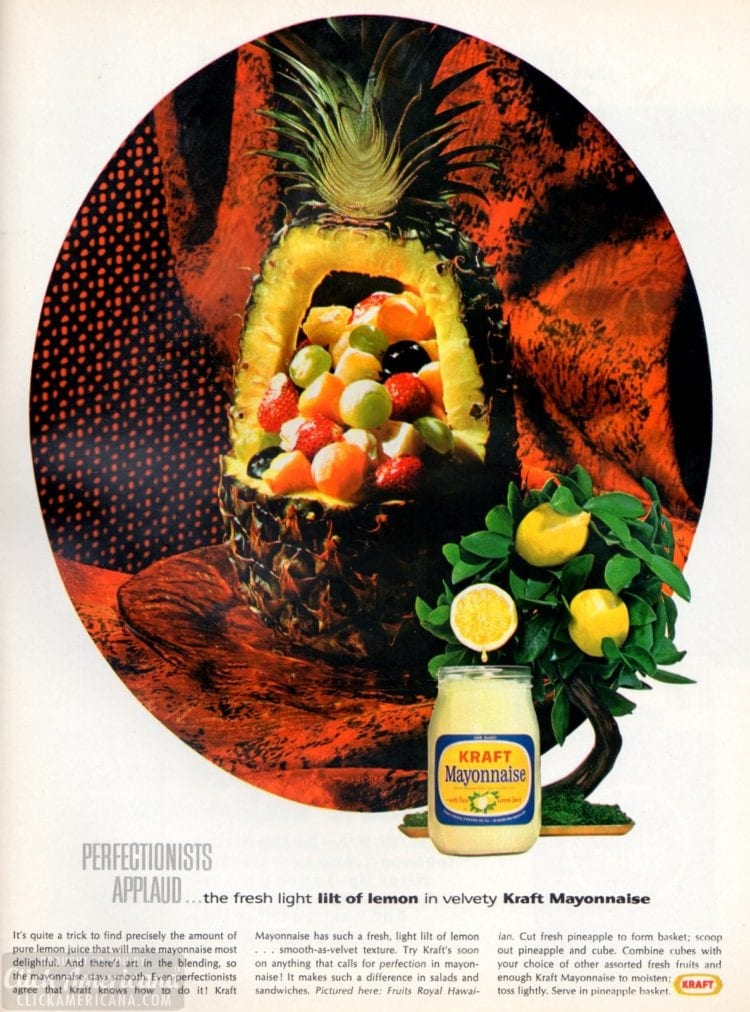 Fruits Royal Hawaiian - carved pineapple with fruit salad recipe