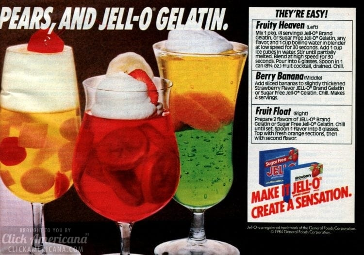 Fruity heaven, Berry banana and Fruit float Jello desserts (1)
