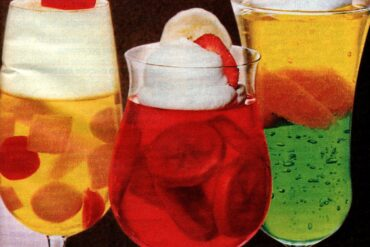 Fruity heaven, Berry banana and Fruit float Jello desserts (1985)