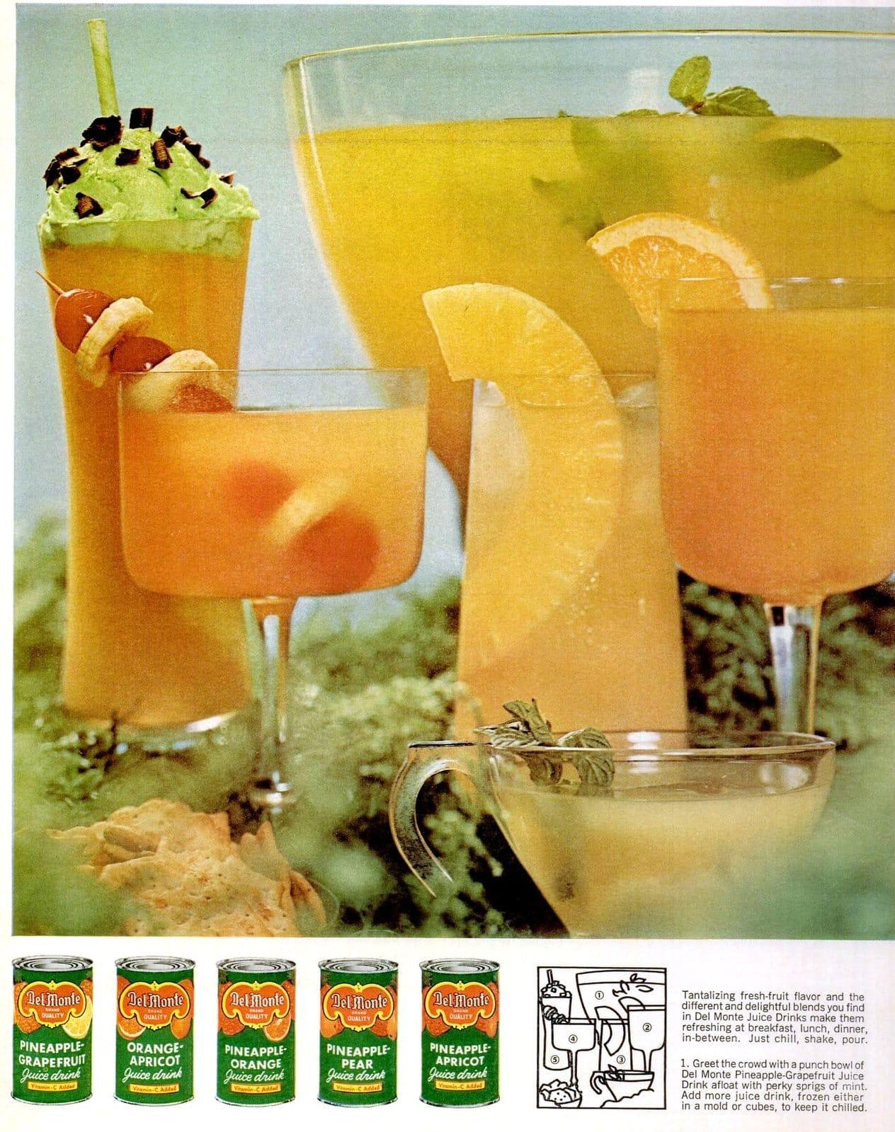 Fruity pineapple juice drinks (1965)