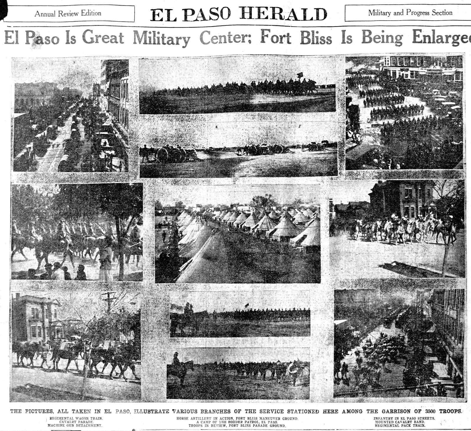 Ft Bliss El Paso - Growing in 1914
